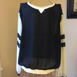 H&M sheer athletic style blouse